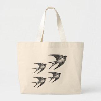 Vintage Black Swallow Design Bags