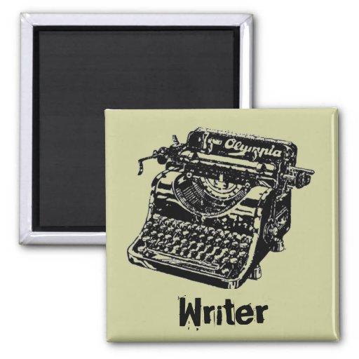 Vintage Black Typewriter Refrigerator Magnet