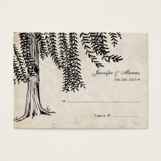 Vintage Black Weeping Willow Tree