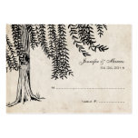 Vintage Black Weeping Willow Tree Business Card