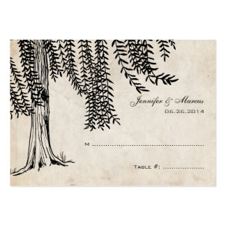 Vintage Black Weeping Willow Tree Pack Of Chubby Business Cards