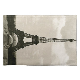 Vintage Black & White Eiffel Tower Placemats