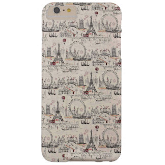 Vintage Black & White Europe Images Barely There iPhone 6 Plus Case