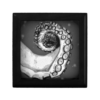 Vintage Black & White Nautical Octopus Tentacle Small Square Gift Box