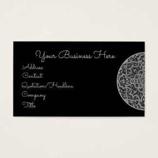 Vintage Black & White Ornate Retro Design Business Card