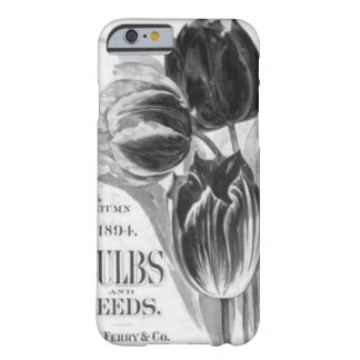 Vintage Black & White Tulip iPhone 6 case Barely There iPhone 6 Case