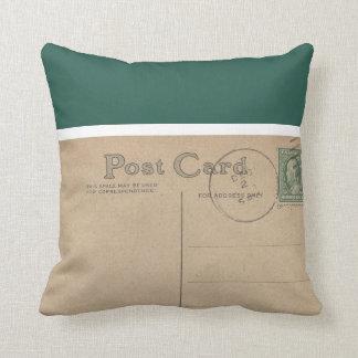 Vintage Blank Postcard  -Pillows Throw Cushions