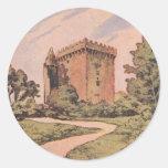 Vintage Blarney Castle Round Stickers