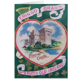 Vintage Blarney Castle St Patrick's Greeting Card