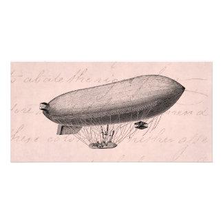 Vintage Blimp Old Zeppelin Retro Hot Air Balloon Photo Cards