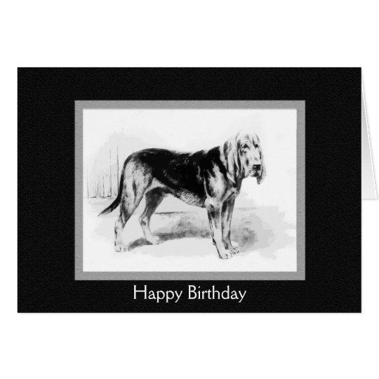 Vintage Bloodhound art Card