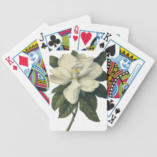 Vintage Blooming White Magnolia Blossom Flowers Bicycle Playing Cards