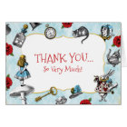 Vintage Blue Alice in Wonderland Thank You Card
