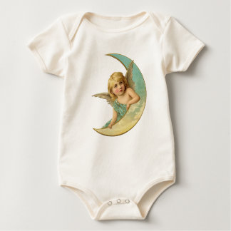 Vintage Blue Angel on the Moon Baby Bodysuit