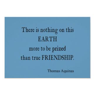 Vintage Blue Aquinas Friendship Quote / Quotes 13 Cm X 18 Cm Invitation Card