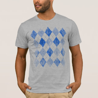 Vintage Blue Argyle T-Shirt
