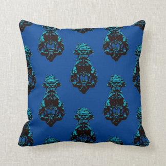 Vintage blue background cushion