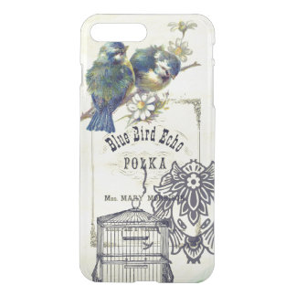 Vintage Blue Bird Birdcage Collage iPhone 8 Plus/7 Plus Case
