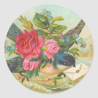 Vintage Blue Bird Stickers