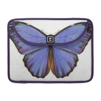 Vintage Blue Butterfly Macbook Pro Flap Sleeve MacBook Pro Sleeves