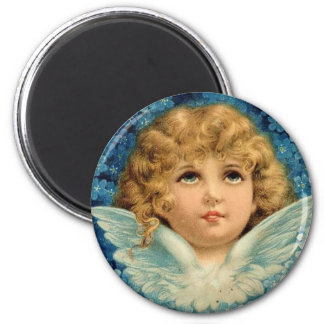 Vintage Blue Christmas Angel Victorian Baby Heaven Fridge Magnets