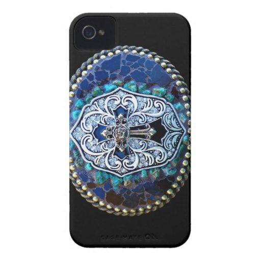 Vintage Blue Cross Case-Mate Blackberry Case