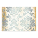 Vintage Blue Damask Business Card Templates