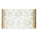 Vintage Blue Damask Business Cards