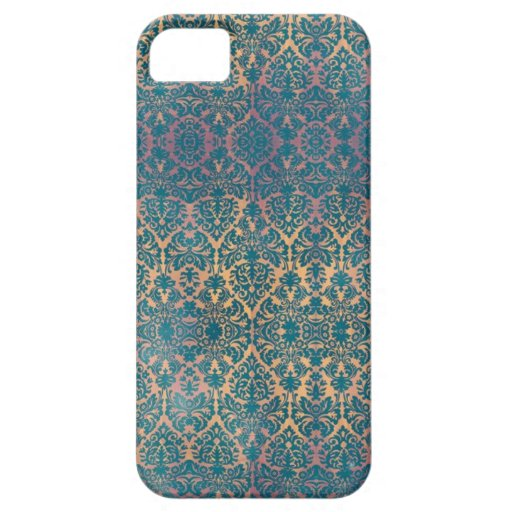 Vintage Blue Damask Floral Grunge iPhone Case iPhone 5 Covers