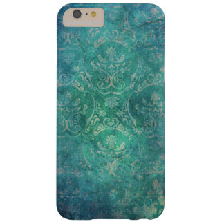 Vintage Blue Damask i Barely There iPhone 6 Plus Case