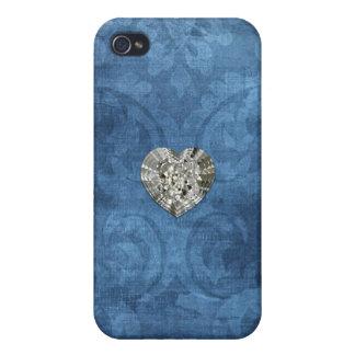Vintage Blue Damask iPhone 4 Case