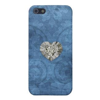 Vintage Blue Damask iPhone 5 Case