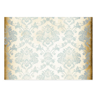 Vintage Blue Damask Pack Of Chubby Business Cards