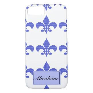 Vintage Blue Fleur de lis iPhone 7 Case