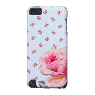 Vintage blue floral and dots iPod touch 5G cover