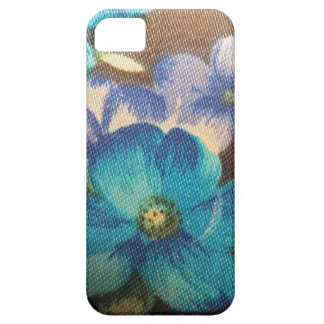 Vintage Blue Floral Pattern iPhone 5 Covers