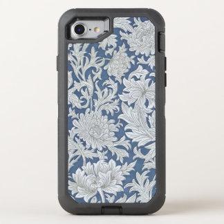 Vintage Blue Floral Pattern OtterBox Defender iPhone 7 Case