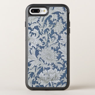 Vintage Blue Floral Pattern OtterBox Symmetry iPhone 8 Plus/7 Plus Case