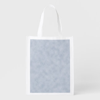 Vintage Blue Gray Parchment Look Texture Reusable Grocery Bag