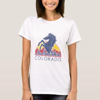 Vintage Blue Horse Colorado Logo T-Shirt