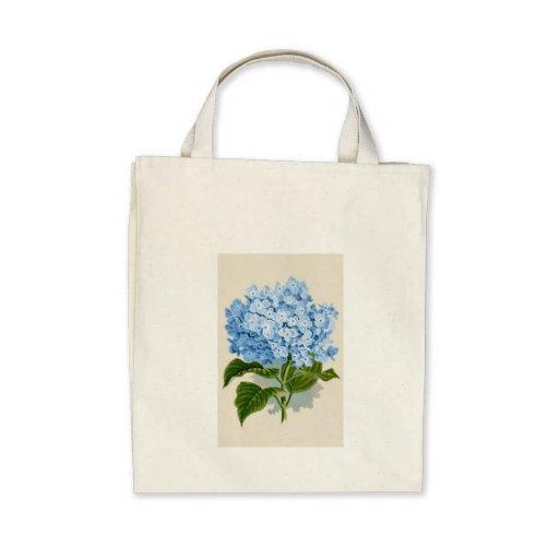 Vintage Blue Hydrangea Bag