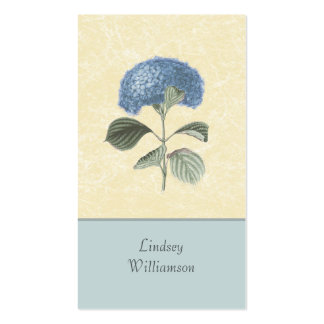Vintage Blue Hydrangea Botanical Floral Business Cards