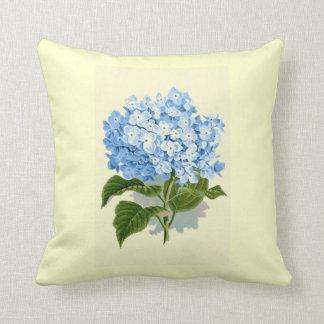 Vintage Blue Hydrangea Cushion