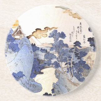 Vintage Blue Japanese Art Coaster