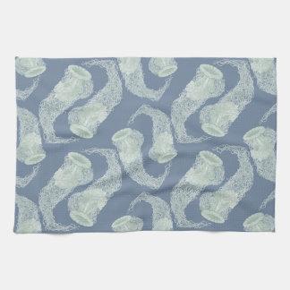 Vintage Blue Jellyfish Kitchen Towel