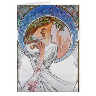 Vintage Blue Moon Goddess Greeting Card