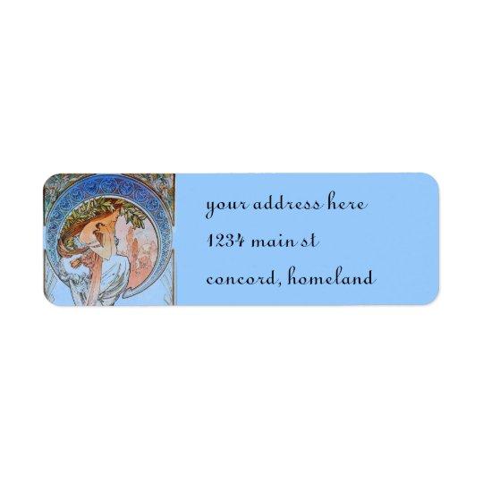 Vintage Blue Moon Goddess Return Address Label
