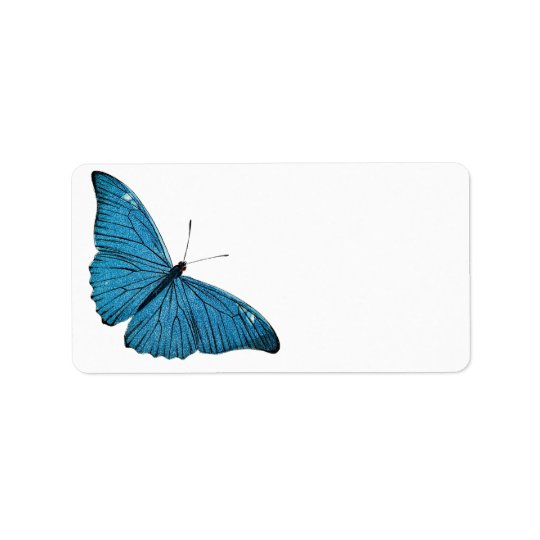 Vintage Blue Morpho Butterfly Customised Template Address Label