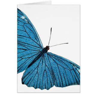 Vintage Blue Morpho Butterfly Customized Template Greeting Card