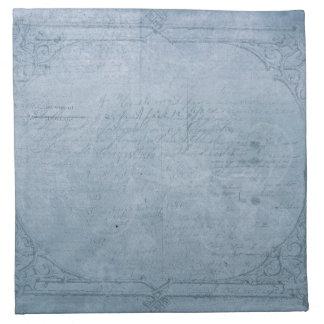Vintage Blue Napkin